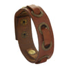 Sukkhi Stylish Brown Leather Wristband Bracelat For Men