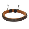 Sukkhi Delicate Brown Lether Bracelet For Men