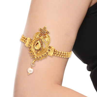 Sukkhi Astonish Gold Plated LCT Stone Bajuband For Women-1