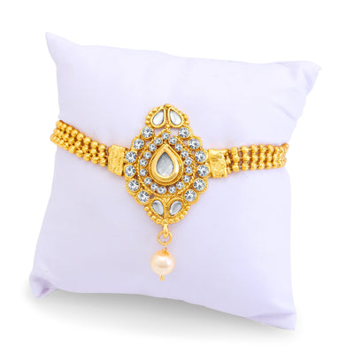 Sukkhi Graceful Gold Plated AD Bajuband For Women-2