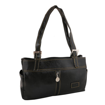 Sukkhi Unique Black Shoulder Handbag