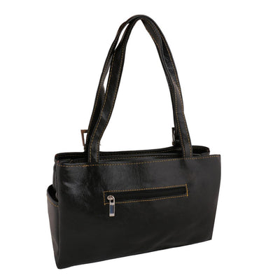 Sukkhi Unique Black Shoulder Handbag-1