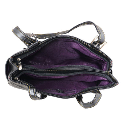 Sukkhi Unique Black Shoulder Handbag-2