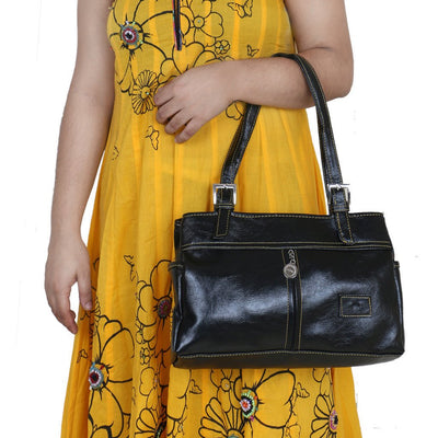 Sukkhi Unique Black Shoulder Handbag-3