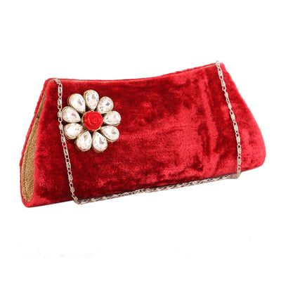 Sukkhi Traditional Red Clutch Handbag