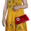Sukkhi Traditional Red Clutch Handbag-3
