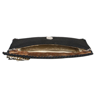 Sukkhi Elegant Black and Gold Clutch Handbag-2