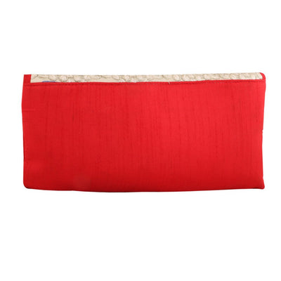 Sukkhi Glamorous Red & White Clutch Handbag-1