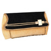 Sukkhi Classy Black, Gold and Cream Clutch Handbag