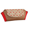 Sukkhi Must Have Red and Golden Clutch Handbag