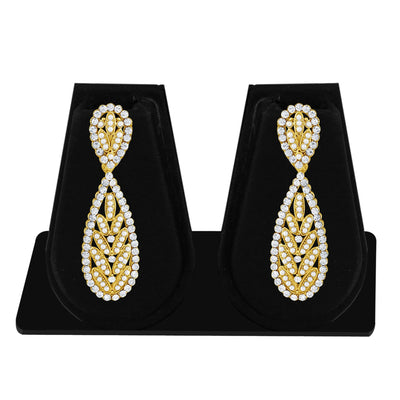 Sukkhi Finely Pearl Gold Plated Set of 3 Pair Dangle Earring Combo For Women-6