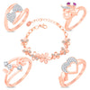 Sukkhi Valentine Special Rose Gold Plated Bracelet & Ring Combo For Women