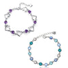 Sukkhi Glitzy Crystal Rhodium Plated Bracelet Combo For Women
