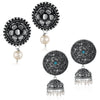 Sukkhi Exotic Oxidised Pearl Earring Combo For Women