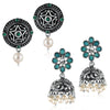 Sukkhi Astonish Oxidised Pearl Earring Combo For Women