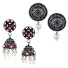 Sukkhi Lavish Oxidised Pearl Earring Combo For Women