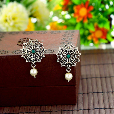 Sukkhi Fashionable Oxidised Pearl Earring Combo For Women
