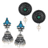 Sukkhi Innovative Oxidised Pearl Earring Combo For Women