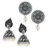 Sukkhi Mesmerizing Oxidised Pearl Earring Combo For Women