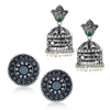 Sukkhi Adorable Oxidised Pearl Earring Combo For Women