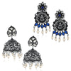 Sukkhi Ethnic Oxidised Pearl Earring Combo For Women
