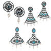 Sukkhi Impressive Oxidised Pearl Earring Combo For Women