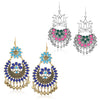 Sukkhi Impressive Gold & Rhodium Plated Chandbali Earring Combo For Women