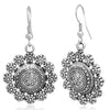 Sukkhi Glistening Oxidised Plated Floral Dangle Earring Combo For Women