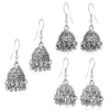 Sukkhi Fabulous Oxidised Plated Jhumki Earring Combo For Women
