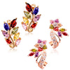 Sukkhi Gorgeous Crystal Rose Gold Plated Floral Earring Combo For Women