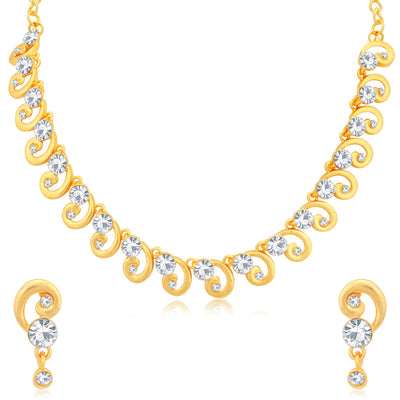 Sukkhi Equisite Gold Plated Choker Necklace Set Combo For Women