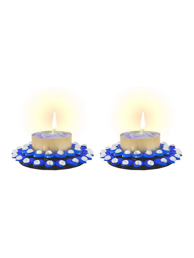 Sukkhi Elegant Diya Candle in Blue-1