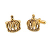 Sukkhi Raised Gold Plated Crown Cufflink For Men