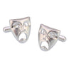 Sukkhi Funny Rhodium Plated Comedy Mask Tragedy Drama Cufflinks For Men