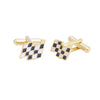 Sukkhi Modern Gold Plated Checker Cufflink For Men
