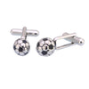 Sukkhi Ritzy 3d Silver And Black Soccer Ball Football Cufflinks For Men
