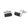 Sukkhi Exotic Rhodium Plated Square Cufflinks For Men
