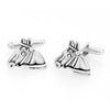 Sukkhi Elegant Oxidised Plated Horse Face Cufflinks For Men