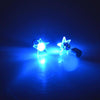 Sukkhi Shimmering Blue Start Shaped LED Colorful Party Dance Unisex Stud Earring