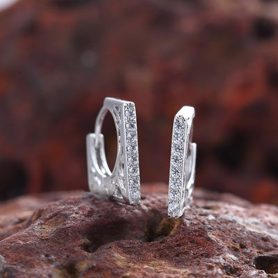 Sukkhi Graceful Rhodium Plated Square Shaped Drop Earring for Women