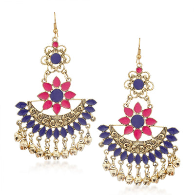 Sukkhi Moddish Rhodium Plated Chandbali Earring for Women