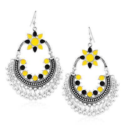 Sukkhi Stylish Rhodium Plated Chandbali Earring for Women