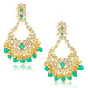 Sukkhi Marvellous Gold Plated Kundan Chandbali Earring For Women