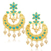 Sukkhi Amazing Floral Gold Plated Pearl Chandbali Earring For Women