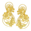 Sukkhi Floral Gold Plated Dangle Earring For Women