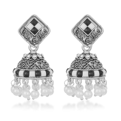 Sukkhi Equisite Pearl Oxidised Earring for Women