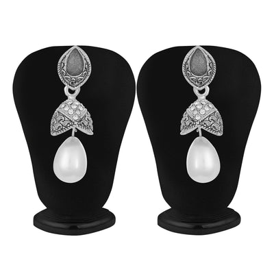 Sukkhi Sleek and Pearl Oxidised Earring for Women