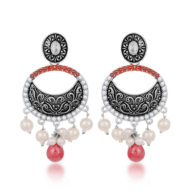 Sukkhi Exclusive Pearl Mint Meena Collection Oxidised Earring for Women