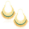 Sukkhi Elegant Gold Plated Meenakari Pearl Chandbali Earrings For Women