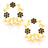 Sukkhi Floral Gold Plated Pearl Dangle Earrings For Women